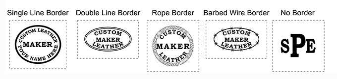 STAMP BORDERS 5 OPTIONS OR NONE